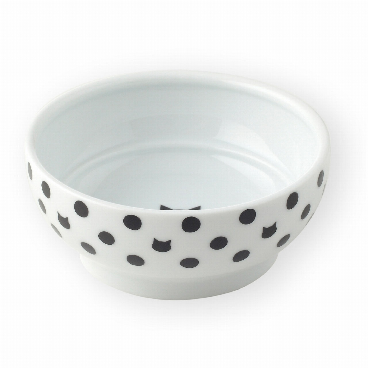 Anti-Spill Cat Food Bowl <br>(Cat Dot)