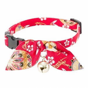 Kimono Ribbon Cat Collar <br>(Red)
