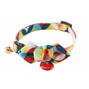 Daruma Charm Cat Collar Red