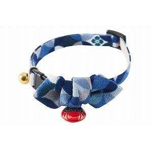 Daruma Charm Cat Collar Blue