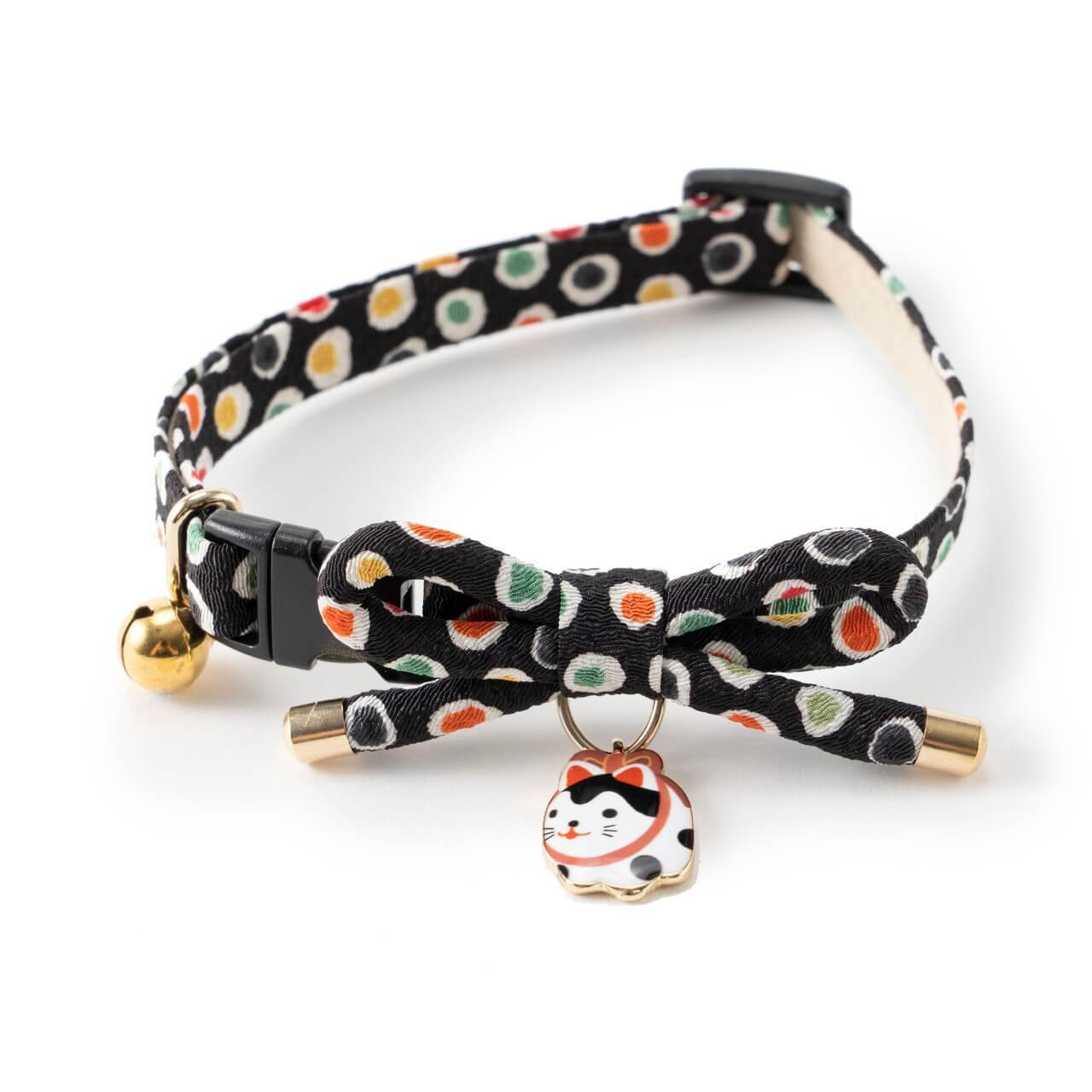 Zen Hariko Charm Cat Collar <br>(Black)