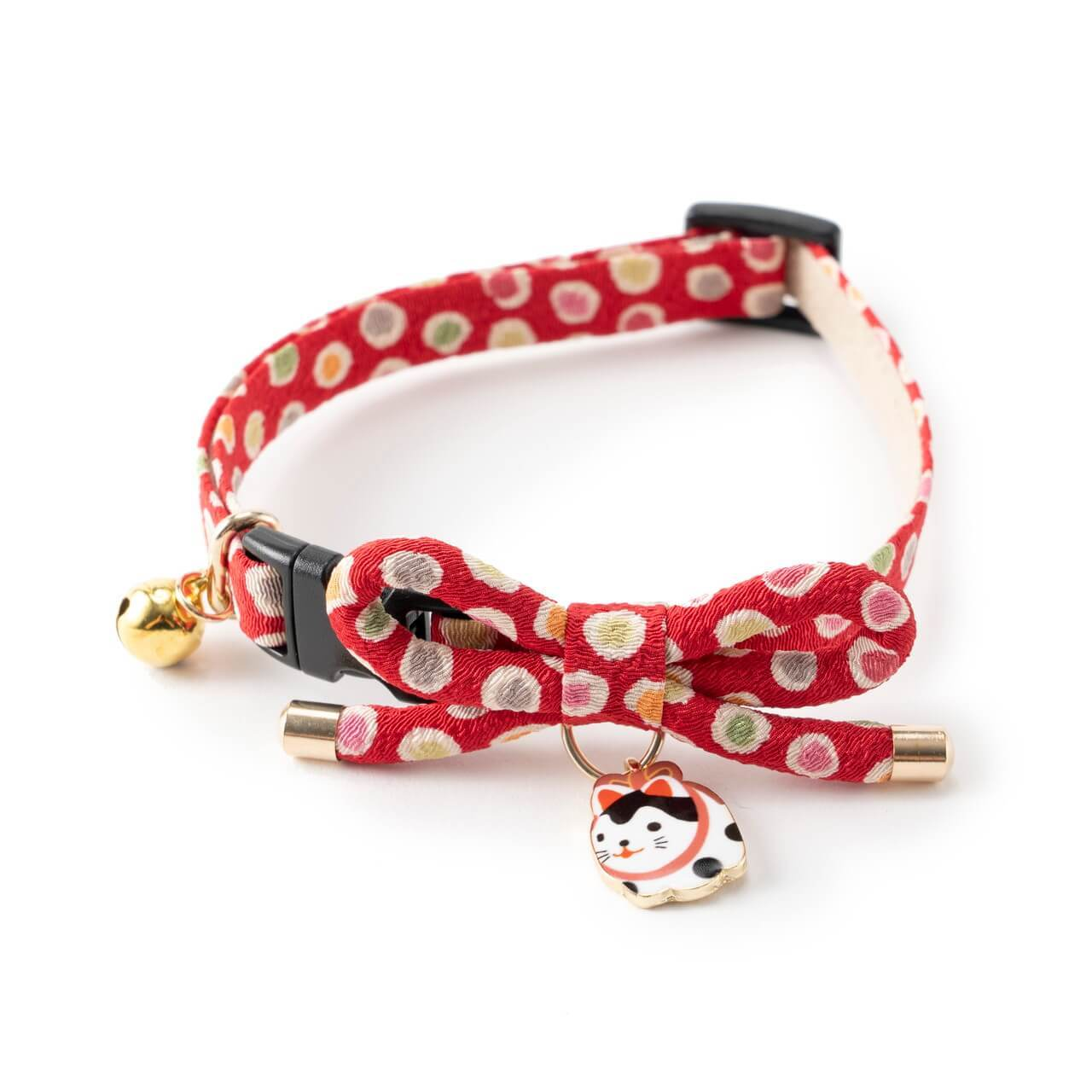 Zen Hariko Charm Cat Collar <br>(Red)