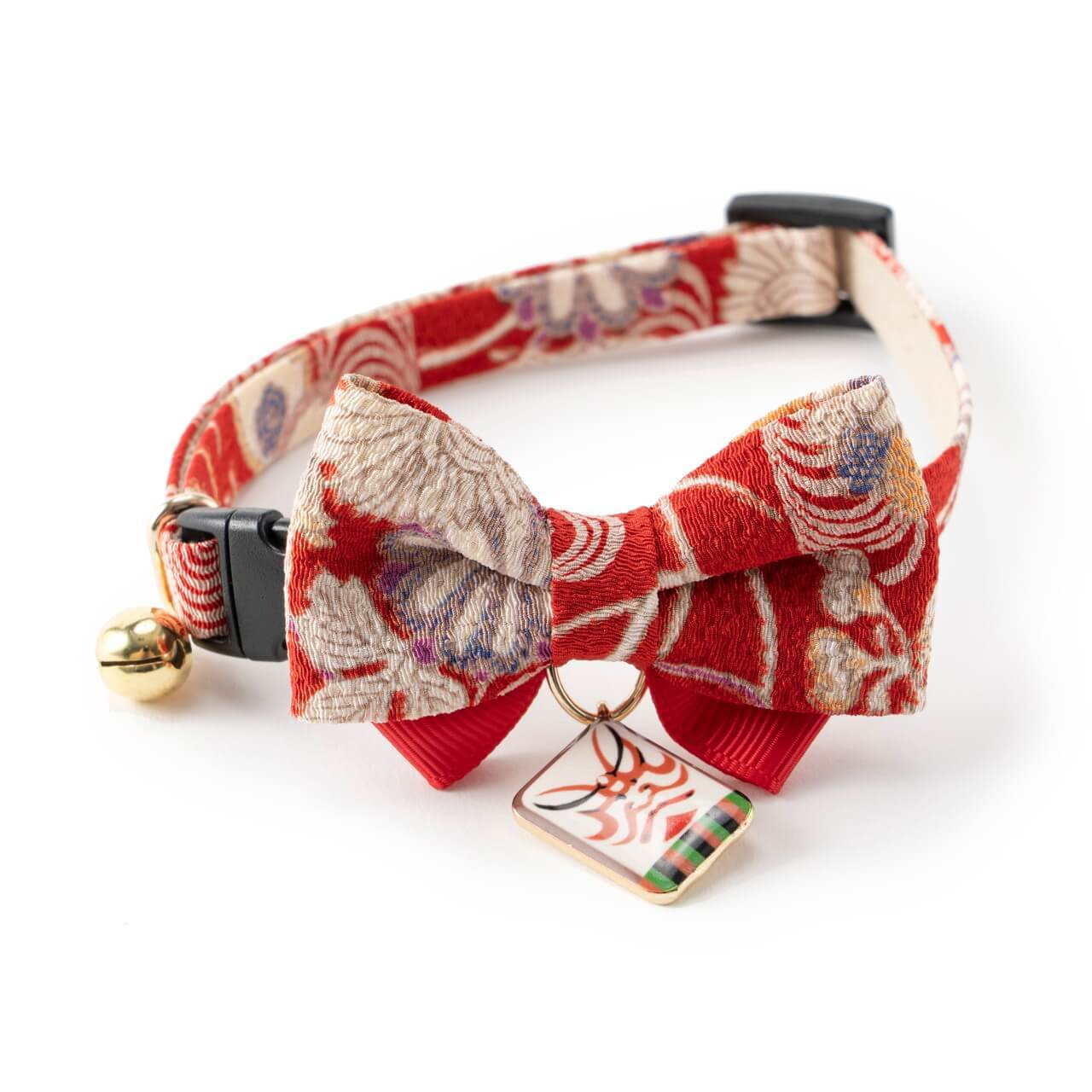 Kabuki Charm Bow Tie Cat Collar <br>(Red)