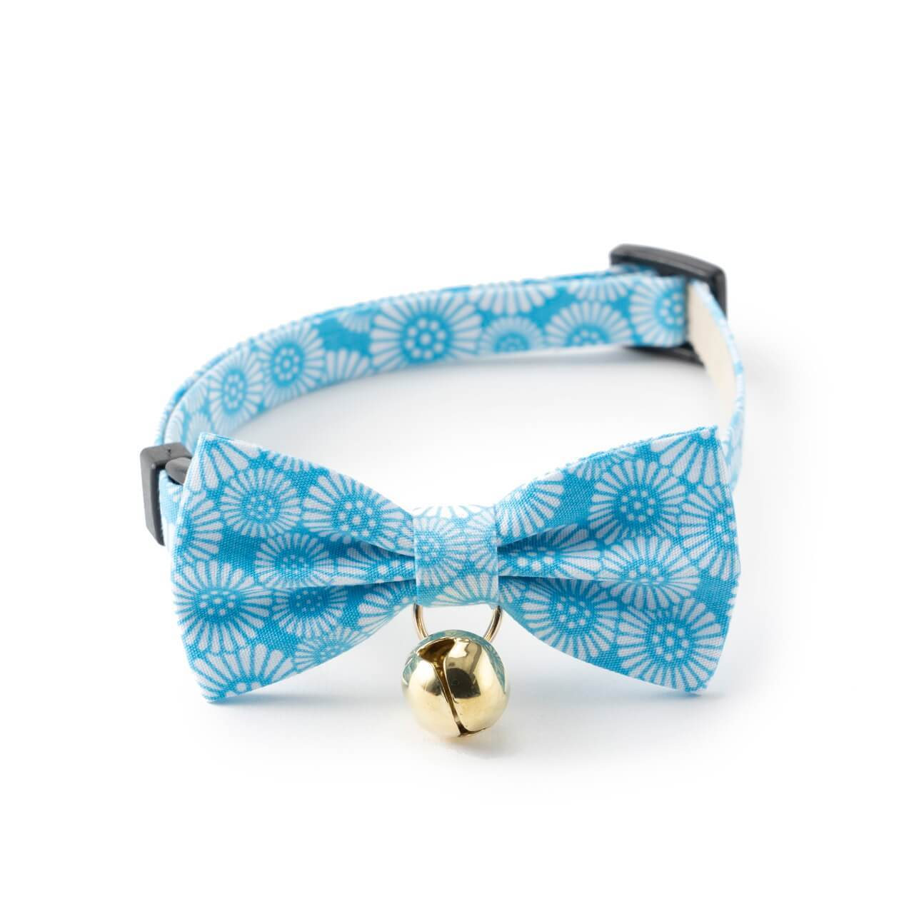 Kiku Ribbon Bow Tie Cat Collar <br>(Baby Blue)