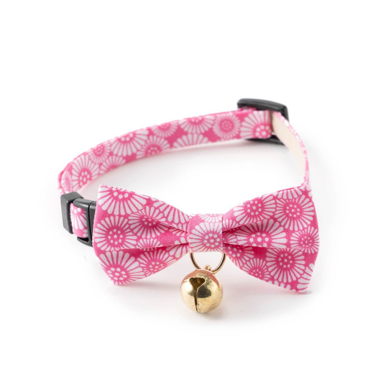 Kiku Ribbon Bow Tie Cat Collar <br>(Pink)